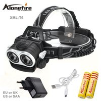 AloneFire HP20 8000Lm CREE XML T6 LED Head Lamp Headlight LED 3-mode torche fishing Lights