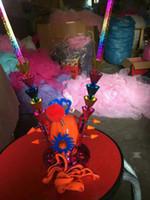 De nieuwe Kinderen Elektronische Flash Toys Luminous Purple Crown Journey naar The West Monkey Headgear Gift