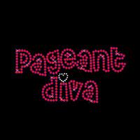 Neueste Charming Pageant Diva Strass Eisen auf Transfers Hotfix Motiv für Mädchen t-Shirt