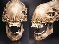 20 Predator VS Alien Schädel Fossil Resin Modell AVP Figur Statue Sammler Geschenk