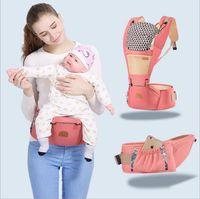 Portadores de bebê Envoltório Transportadora Recém-nascido Estilingue Da Mochila Suspensórios Da Criança Assento Crianças Canguru Cintas Fezes Cintura Mochila Infantil Bolsa Novo B3018