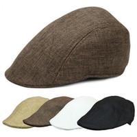 Al por mayor-1 PC nueva llegada Casual Hombres Mujeres Duckbill Ivy Cap Golf Driving Sun Flat Cabbie Newsboy Beret Hat
