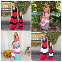 Retail 2017 Matching Mother Daughter Dresses Clothes Striped...