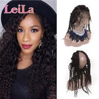 Indian 100% Unprocessed Human Hair Pre Plucked 360 Lace Fron...