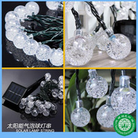Factory outlets solar energy lights string, 30LED bubble bea...