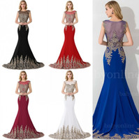 2018 Mermaid Prom Dresses In Stock Real Pictures Embroidery ...