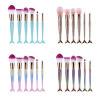 Mermaid Makeup Brushes 6PCS SET Makeup Brushes Beauty Rainbo...