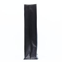 """Nero 40 Pz / lotto 11 * 27 + 7.5 cm Stand Up Stuoia Alluminio Puro 4.33 """"x10.62"""" +2.95 """"Borsa eventi Per Dessert Snack Mylar Confezione Pouch"""