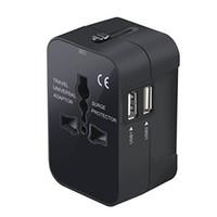 Переносной адаптер, во всем мире Все в одном Универсальный адаптер адаптер Wall AC Power Plug зарядное устройство с двумя USB-портами для зарядки