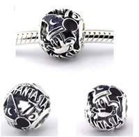Micky' s Sorcerer Hat Blue Beads Fit Pandora Charms Silv...