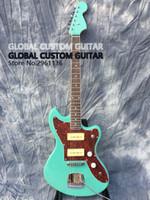 Jazzmaster Deluxe Jaguar E-Gitarre, S-P90 Pickups, Farbe des grünen Meer, alle färben vorhanden, Echt Foto zeigt, geben Schiff frei!