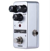 Frete grátis KOKKO FCP2 Mini Compressor Pedal Efeito de Guitarra Portátil Pedal de Alta Qualidade Guitarra Peças Guitarra Efeito Pedal
