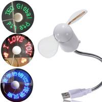 USB LED Message Fan Flexible Gooseneck Programmable For PC N...