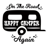 New Style For On The Road Again Camping Car Window Sticker C...