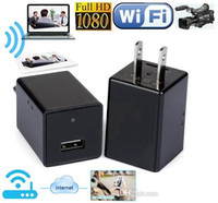 WiFi Adaptador de CA Mini cámara IP P2P 1080P EU EU EE. UU. Enchufe Cargador DVR Pinhone Cámara Inicio Seguridad Cámara Cámara Monitor Remoto Cámara Negro