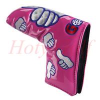Envío gratis 1 UNIDS Nueva Personalizada rojo / rosa / amarillo / naranja Thumb Blade Headcover Golf Putter Head Cover