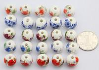 14 мм фарфоровые бусины,DIY аксессуары керамические свободные бусины,круглая форма,продается в сумке 100 шт