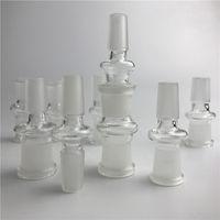 adaptador de vidro 14mm a 18mm vidro fêmea masculino em adaptadores de bongo de vidro com boca de moagem para cachimbos