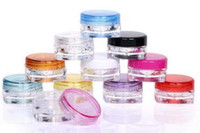 2880pcs lot 3G Square Cream Jars Clear Plastic Makeup Sub- bo...