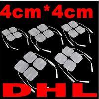 4 * 4 سنتيمتر هلام حياة طويلة ذاتية اللصق قابلة لإعادة الاستخدام استبدال منصات الكهربائي ل TENS / EMS كومبكس ، إمبي اومرون