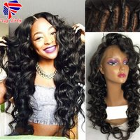 Fast shipping loose wave Human hair wigs black glueless full...