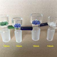 14mm 18mm Tigelas De Vidro De Filtro De Floco De Neve para Tubos De Água De Vidro e Bongos Cinza Narguilé De Vidro Tigela Rigs