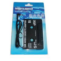 Groothandel 50 stks / partij 3.5mm Universele Auto Audio Cassette Adapter Audio Stereo Cassette Tape Adapter voor MP3-speler Telefoon Zwart