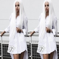 White Lace Front Wig Synthetic Long Straight Synthetic Lace ...