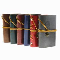 Pirata Retro Vintage Ancla Funda de cuero sintético Cuaderno de tapa dura Cuaderno Diario Viajero Libro Diario Cadena en blanco Cuaderno de bocetos