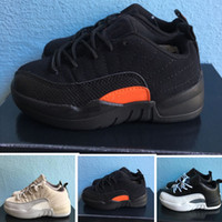Boy & girl 12s Low Mex Orange Playoff Infant basketball shoe...