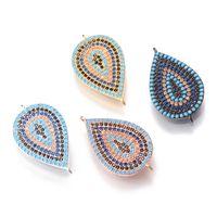 4 Color Cubic Zircon Charms , zircon jewelry , Fashion Rhinestone cz Micro Pave Pendant, ICSP104,26.7*15mm