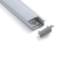 10 مجموعات X 1M / الكثير مصنع الجملة قاد الألومنيوم وقناة T الشخصية قذف السقف أو الجدار مصابيح