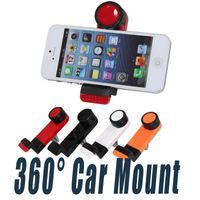 Teléfono celular universal Soportes para coche Soporte de teléfono de ventilación por aire 360 grados de rotación para iPhone 7 6 6 s más teléfonos inteligentes Samsung Blackberry
