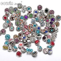 100pcs lot Mixed snap button charm High quality Rhinestone 1...