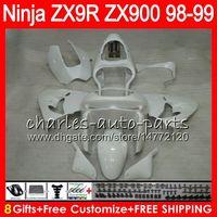 8Gifts 23colors Para KAWASAKI ZX900 ZX9R brillo 98 99 00 01 900cc 48HM15 blanco ZX9R ZX 9 R ZX900C ZX 9R kit de carenado 1998 1999 2000 2001