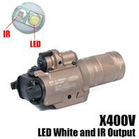 جديد SF X400V-IR مضيا التكتيكية بندقية ضوء LED الأبيض والأشعة تحت الحمراء الإخراج مع الليزر الأحمر الظلام الأرض
