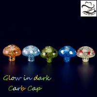Renkli Rastgele Cam Karbonhidrat Kap Glow 42mm Uzunluk Dome kuvars Banger Için Tırnak 2mm 3mm 4mm Kalın Enail dab rig 654