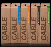 Cavo di ricarica USB Kraft paper brown Retro Retail Package Scatole di imballaggio per Micro USB Samsung S7 Edge iphone X 8 7 Plus OEM