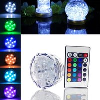 Fashion Round Super Bright RGB Multicolors LED LED submersible Floralyte Light LED Light Cup avec télécommande pour décoration de mariage