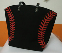new arrival black white Blanks Cotton Canvas Softball Tote B...