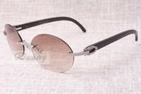 Lunettes de soleil rétro diamant rondes à la mode T8100903-A Les lunettes de soleil à angle naturel noir et blanc de la meilleure qualité Taille: 58-18-140 mm