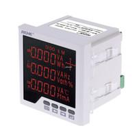 Misuratore di potenza multifunzione incorporato freeshipping LED digitale voltmetro trifase amperometro corrente alternata tensione fattore di potenza misuratore di frequenza