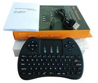 Neue Hintergrundbeleuchtung H9 Tastatur-Berührungsfläche Muis Spiel Toetsenborden für android Fernsehkasten-PC-Laptop-Tablette orange PU plus Himbeere PU