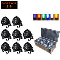 Flight Case 8em1 Embalagem 7 x 18W Lâmpada PAR LED impermeável RGBWA + UV 6in1 Mini alumínio Fundição Shell IP65 Indoor / Outdoor Usando