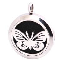 10pcs farfalla aromaterapia olio essenziale chirurgico in acciaio inox pendente neckalce pendente diffusore medaglione
