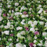 Новейший искусственный шелк цветок стены Дэвид Остин вырос новый георгин свадьба фон дорога украшения рынка свинца 10 шт. / Лот