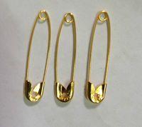 銀めっき金属安全ピンロック赤ちゃん布のおむつおむつクラフトピン針35mm 100ピース