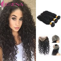 Human Hair Bundles Lace Frontal Deep Curly Hair 360 Full Lace Closure 22.5x4x2 Adjustable Strap Malaysian Virgin Hair Deep Curly
