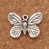 Monarch Butterfly Spacer Urok Koraliki 110 sztuk / partia Hot 17.7x14mm Antique Silver Wisiorki Biżuteria DIY L1120