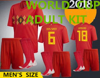 2018 World Cup Belgium ADULT Home red Soccer Jersey + SOCKS L...